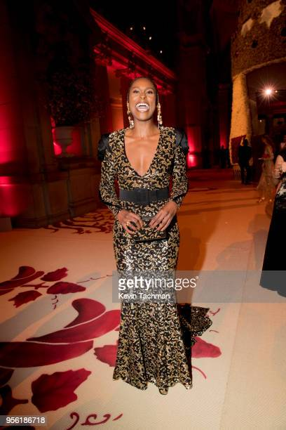 Issa Rae attends the Heavenly Bodies: Fashion & The Catholic Imagination Costume Institute Gala at The Metropolitan Museum of Art on May 7, 2018 in...