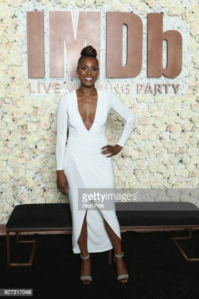 Issa Rae attends the IMDb LIVE Viewing Party on March 4 2018 in Los Angeles California