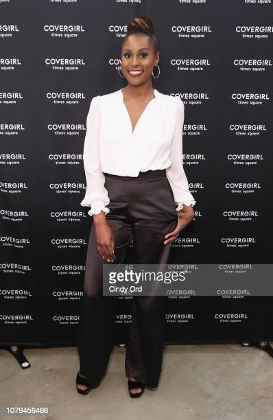 Issa Rae attends the Issa Rae Meet and Greet at the COVERGIRL store in Times Square NYC on January 8 2019 in New York City