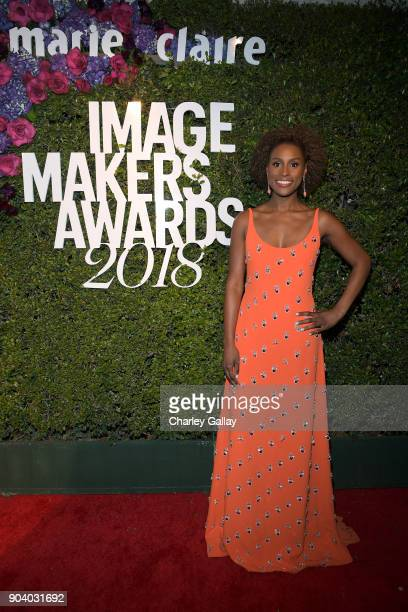 Issa Rae attends the Marie Claire's Image Makers Awards 2018 on January 11 2018 in West Hollywood California
