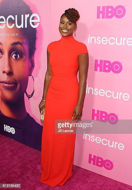 Issa Rae attends the premiere of 'Insecure' at Nate Holden Performing Arts Center on October 6 2016 in Los Angeles California
