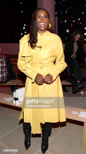 Issa Rae attends the Proenza Schouler fashion show during February 2020 - New York Fashion Week: The Shows on February 10, 2020 in New York City.