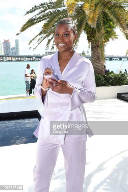 Issa Rae attends the Samsung /make Creators Brunch During Miami Art Week on December 07 2018 in Miami Florida