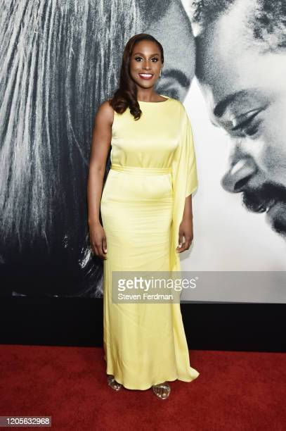 """Issa Rae attends the world premiere of """"The Photograph"""" World at SVA Theater on February 11, 2020 in New York City."""