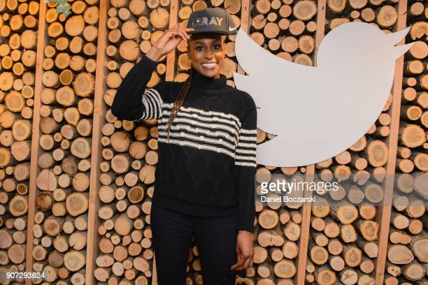 Issa Rae attends Twitter and ARRAYs #HereWeAre brunch at the #TwitterLodge during the 2018 Sundance Film Festival on January 19 2018 in Park City Utah