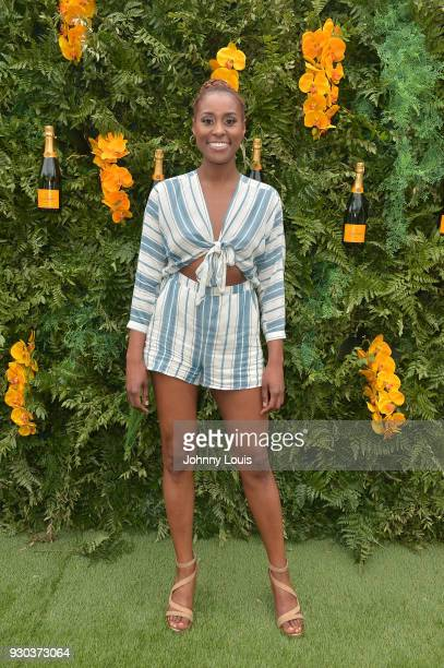 Issa Rae is seen at the Veuve Clicquot Fourth Annual Clicquot Carnaval Supporting the Perez Art Museum Miami at Museum Park on March 10 2018 in Miami...