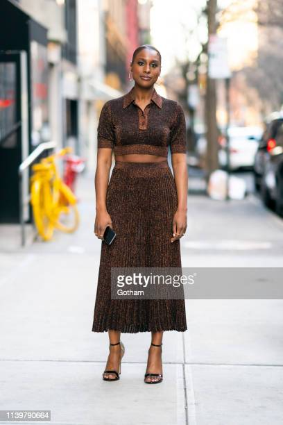 Issa Rae is seen in Gramercy on April 01 2019 in New York City