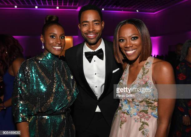 Issa Rae Jay Ellis and Yvonne Orji attend 49th NAACP Image Awards After Party at Pasadena Civic Auditorium on January 15 2018 in Pasadena California