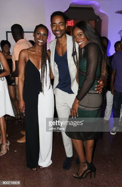 Issa Rae Jay Ellis and Yvonne Orji attend the 20th Anniversary Celebration of HBO x ABFF at The Betsy Hotel on June 17 2017 in Miami Florida