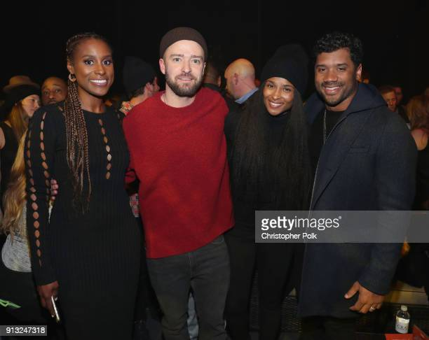 Issa Rae Justin Timberlake Ciara and Russell Wilson attend American Express Justin Timberlake Partner for Intimate Album Listening Experience Just...