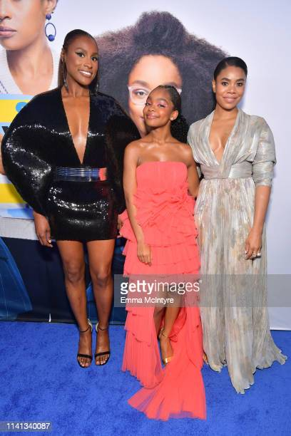 Issa Rae Marsai Martin and Regina Hall attend the premiere of Universal Pictures Little at Regency Village Theatre on April 08 2019 in Westwood...