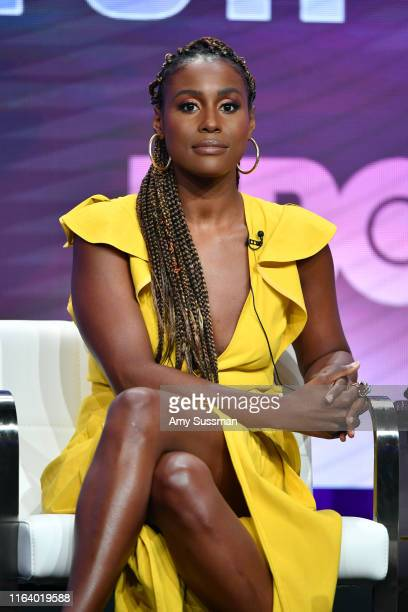 Issa Rae of 'A Black Lady Sketch Show' speaks during the HBO segment of the Summer 2019 Television Critics Association Press Tour 2019 at The Beverly...