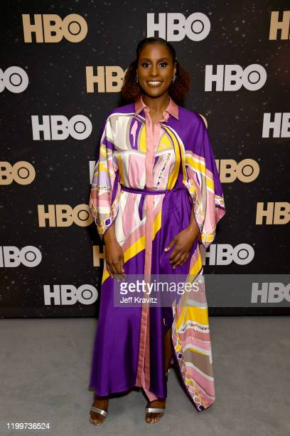 Issa Rae of 'Insecure' poses in the green room during the 2020 Winter Television Critics Association Press Tour at The Langham Huntington, Pasadena...