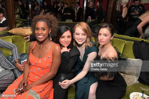 Issa Rae Pamela Adlon Emma Stone and Gideon Adlon attend the Marie Claire's Image Makers Awards 2018 on January 11 2018 in West Hollywood California