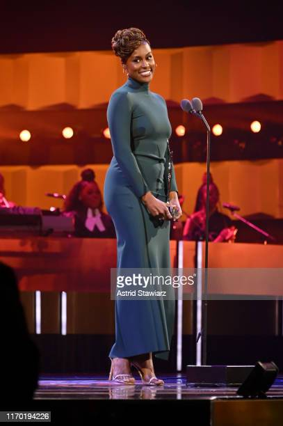 Issa Rae speaks onstage at Black Girls Rock 2019 Hosted By Niecy Nash at NJPAC on August 25 2019 in Newark New Jersey