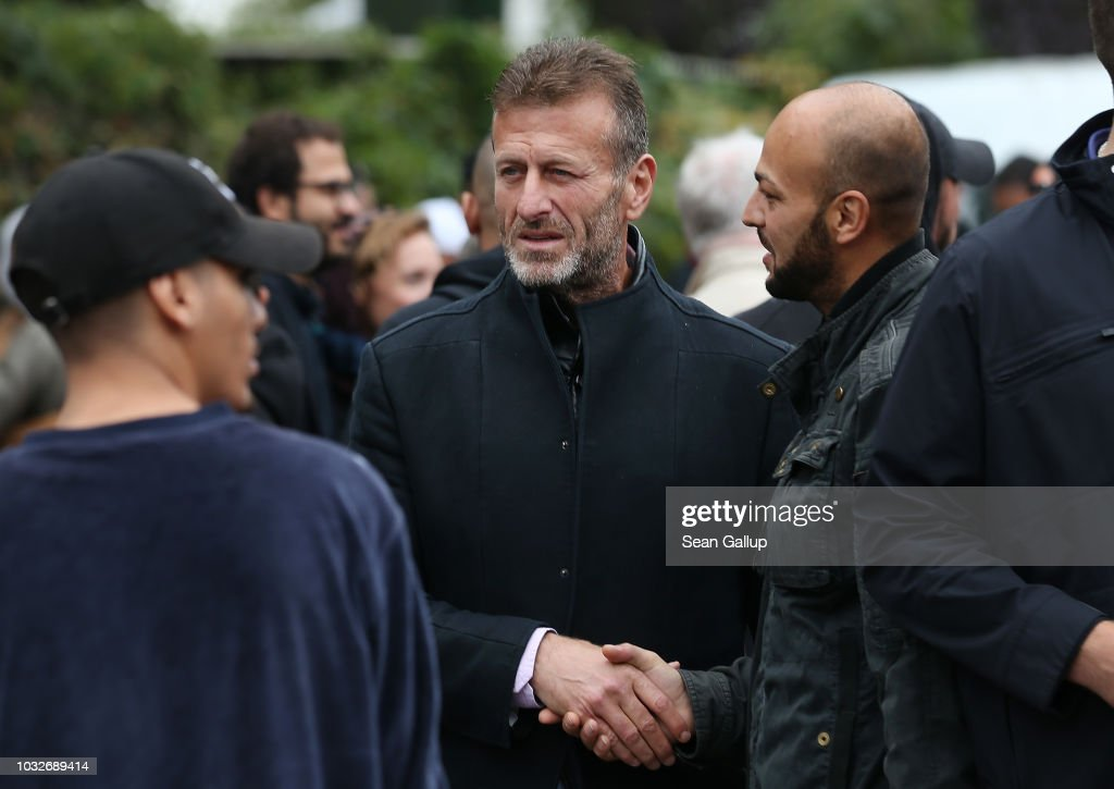 Issa Remmo, head of the Lebanese Arab Remmo family that was investigated by police for money laundering, departs after attending the funeral of Nidal R. at the New 12 Apostles cemetery on September 13, 2018 in Berlin, Germany. Nidal R., 36, a multiple felon, was gunned down by assailants who managed to flee the scene at a public park last Sunday. Berlin has a number of Arab, Kurdish and Turkish clans deeply organized in organized crime.