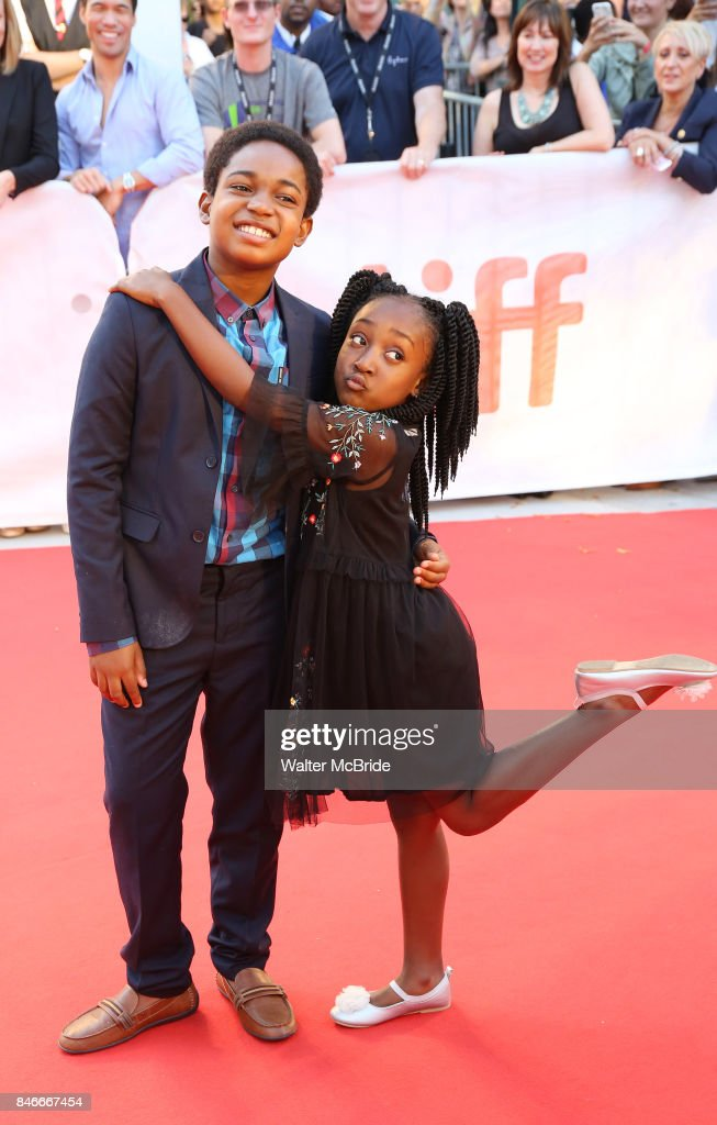 Issac Brown and Serenity Brown attend the 'Kings' premiere during the 2017 Toronto International Film Festival at Roy Thomson Hall on September 13, 2017 in Toronto, Canada.
