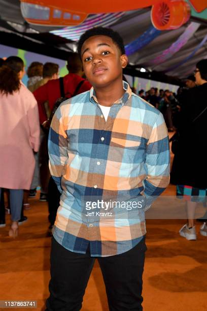 Issac Brown attends Nickelodeon's 2019 Kids' Choice Awards at Galen Center on March 23 2019 in Los Angeles California