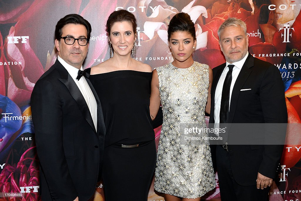 Issac Franco, Elizabeth Musmanno, actress Jessica Szohr and Ken Kaufman attend the 2013 Fragrance Foundation Awards at Alice Tully Hall at Lincoln Center on June 12, 2013 in New York City.
