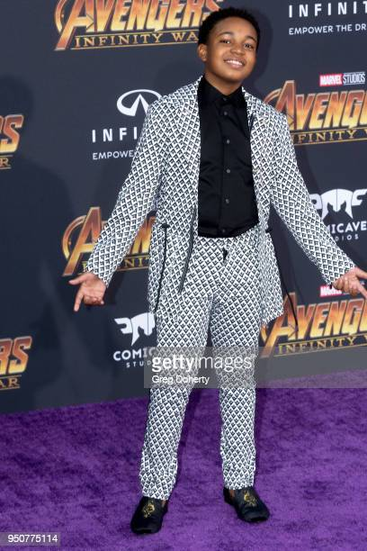 Issac Ryan Brown attends the Avengers Infinity War World Premiere on April 23 2018 in Los Angeles California