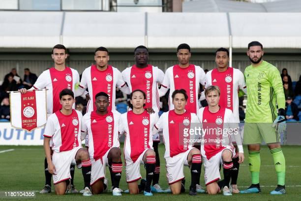 Issam El Maach of Ajax U19 Filip Frei of Ajax U19 Liam van Gelderen of Ajax U19 Nordin Musampa of Ajax U19 Terence Douglas of Ajax U19 Enric Llansana...