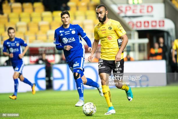 Issam Jebali of IF Elfsborg controls the ball during the Allsvenskan match between IF Elfsborg and GIF Sundsvall at Boras Arena on October 15, 2017...