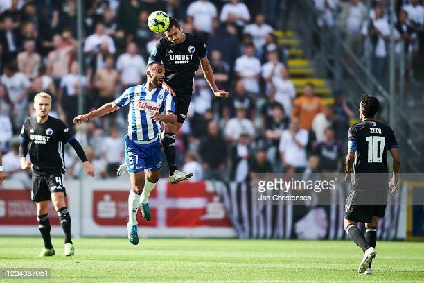 Issam Jebali of OB Odense compete for the ball during the Danish 3F Superliga match between OB Odense and FC Copenhagen at Nature Energy Park on...
