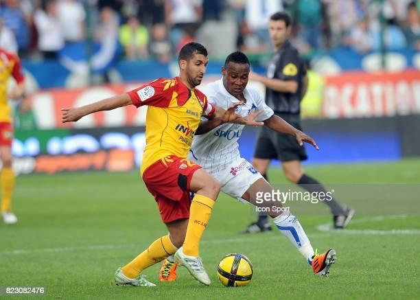 Issam JEMAA / Kossi SEGBEFIA Auxerre / Lens 32eme journee de Ligue 1