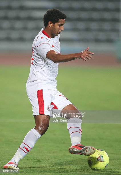 Issam Jemaa of Tunisia in action during the international friendly game between Tunisia and Ethiopia at the Al Wakrah Stadium on January 7 2013 in...