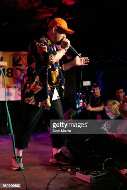 Issei performs with RudeAlpha onstage at Japan Nite during SXSW at Elysium on March 16 2018 in Austin Texas