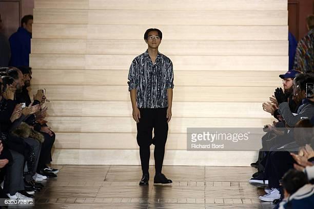 bb4899accd75 Issey Miyake walks the runway during the Issey Miyake Men Menswear Fall  Winter 20172018 show. Issey Miyake Men   Runway - Paris Fashion Week ...