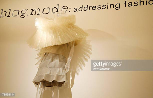 Issey Miyake's Staircase Pleats is displayed at the Blogmode addressing fashion exhibit at the Metropolitan Museum of Art's Costume Institute on...