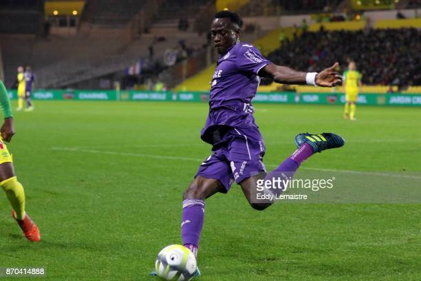 Issiaga Sylla of Toulouse during the Ligue 1 match between Nantes and Toulouse at Stade de la Beaujoire on November 4 2017 in Nantes