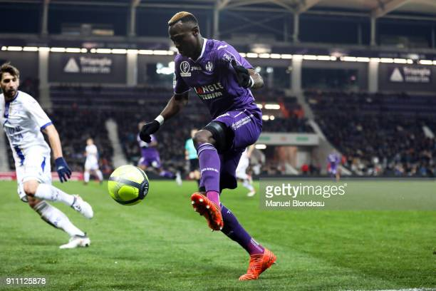 Issiaga Sylla of Toulouse during the Ligue 1 match between Toulouse and Troyes at Stadium Municipal on January 27 2018 in Toulouse