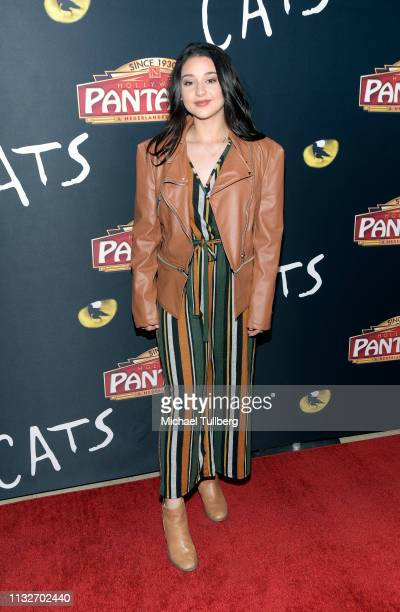 Issie Swickle attends the Los Angeles opening night performance of Cats at the Pantages Theatre on February 27 2019 in Hollywood California