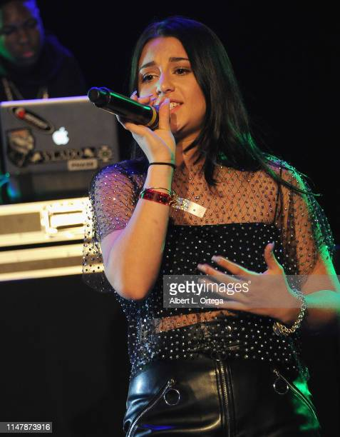 Issie Swickle performs at the SOS Pre Tour Launch Party held at The Roxy Theatre on June 2 2019 in West Hollywood California
