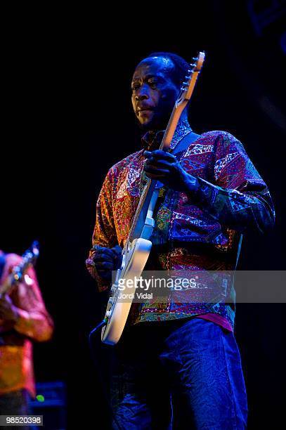 Issouf Diabate performs on stage at Teatre Zorrilla on April 17 2010 in Badalona Spain
