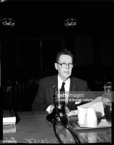 Issuance of Degrees 30 January 1958 Sheridan Hegland James D Loebl Mrs Elizabeth Miller Ed ClancyJames MulveySupplementary material reads 'Agenda...