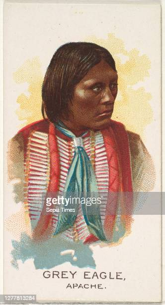Issued by Allen & Ginter, Grey Eagle, Apache, from the American Indian Chiefs series for Allen & Ginter Cigarettes Brands Commercial color...