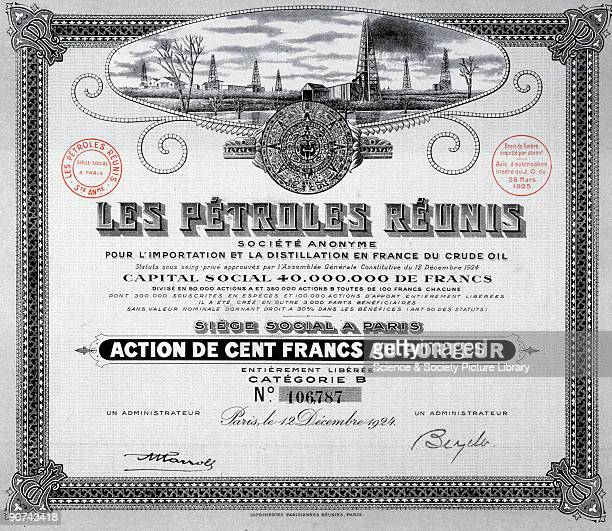 Issued on behalf of Les Petroles Reunis Company of Brazil