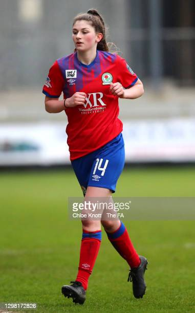 Issy Dean of Blackburn Rovers looks on during the Barclays FA Women's Championship match between London City Lionesses and Blackburn Ladies at...