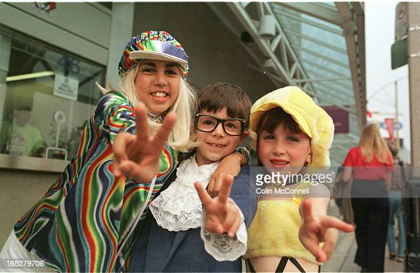 ist pics are of gordie ash and his son aaron ash cutajar2 dressed upas dr evil the three cute kids fans dressed up are l to r kim wright13 dressed as...