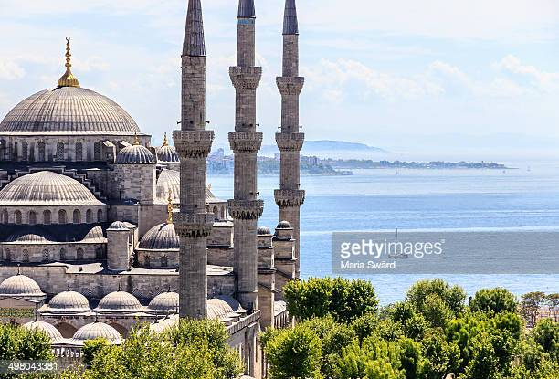 Istanbul - aerial of the Blue Mosque