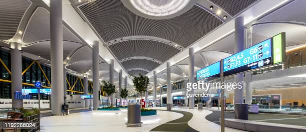 istanbul airport, istanbul's new airport - contemporary istanbul foto e immagini stock