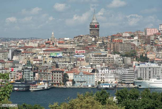 istanbul and the galata tower - イスタンブール県 ストックフォトと画像