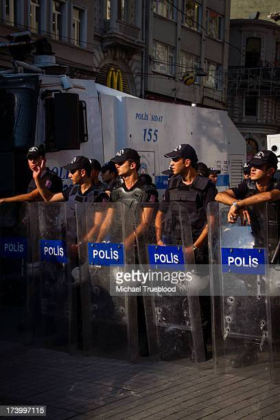 Istanbul Anti-Government Protests Continue, July 13, 2013. A protest by the Turkish Union of Engineers and Architects on Istanbul's Istiklal Street...
