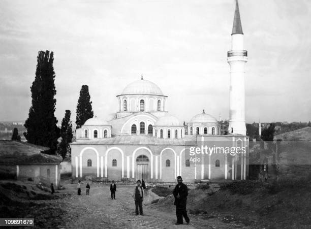 Istanbul : Church of St. Savior in Chora, byzantine church changed into a mosque in 16th century, here in 1903.