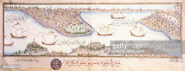 Istanbul in an Ottoman miniature Turkey 17th century Istanbul Istanbul Universitesi Kutuphanesi