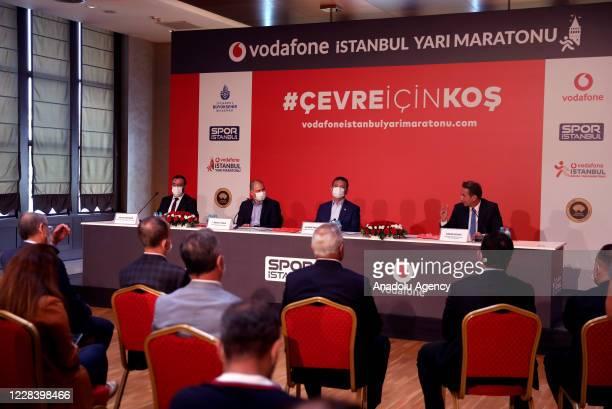 Istanbul Mayor Ekrem Imamoglu , Sport Istanbul General Director Renay Onur , Vodafone Turkey, Vice President of the Executive Board, Engin Aksoy and...