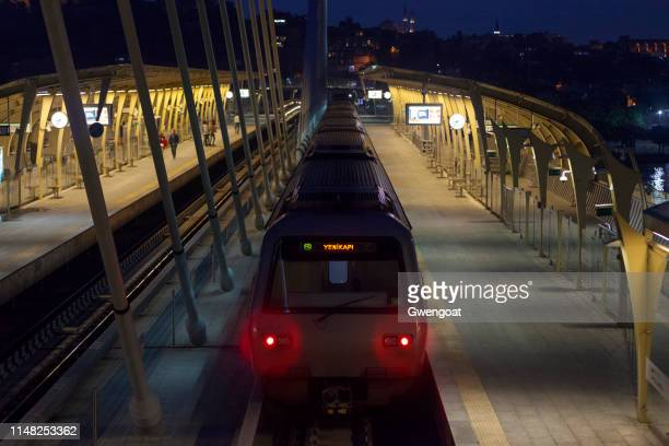 istanbul metro station - gwengoat stock pictures, royalty-free photos & images
